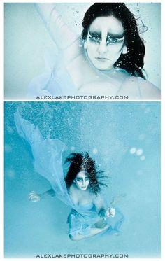 Water makeup hair element inspiration