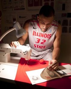 When the Illinois State men's basketball team helped redesign their jerseys before the start of the 2012–2013 season, they knew what they wanted as players—and as budding fashion experts.    That's because three of the players—Jackie Carmichael, Johnny Hill, and Zeke Upshaw—are apparel, merchandising, and design (AMD) majors in the Department of Family and Consumer Sciences (FCS).