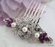 Pearl Hair Comb Bridal Pearl crystal Hair Comb Wedding