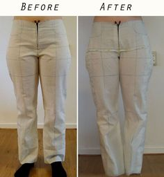 Good post on fitting a muslin - It was especially helpful for me to see the fabric pinned out of the front crotch area.