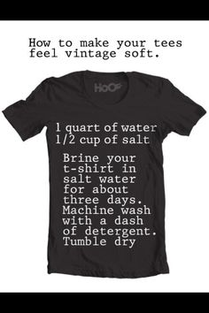 How to make tees feel vintage & soft. Brining!