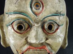 Tibet, Archaic Himalayan Mask, paper mache