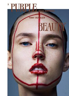 face mapping: harleth kuusik, kadri vahersalu and ally ertel by sharif hamza for purple fall / winter 2015