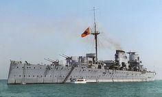 Crucero nacional Baleares hundido durante la Batalla del Cabo de Palos.