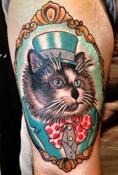 Framed cat tattoo. Mr Fezziwig is fancy! #tattoo #ragdolls #cats