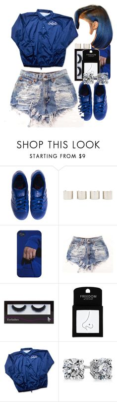 """Blue blue God loves you"" by thaofficialtrillqueen ❤ liked on Polyvore featuring adidas, Luv Aj, BBrowBar, Topshop and Blue Nile"