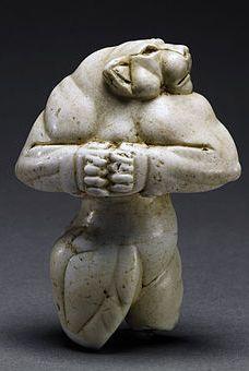 The Guennol Lioness, a 5000-yr-old limestone statue found in Bagdad, Iraq