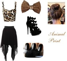 """Animal Print"" by cutiepie237 ❤ liked on Polyvore"