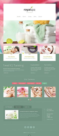 Template 46901 - Spa Responsive Joomla Template with Homepage Slider, Gallery and Blog