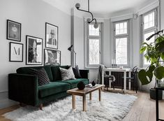 How to make your livingroom more cosy –11 interior ideas Living Room Green, Living Room On A Budget, Living Room Interior, Living Room Modern, Home Living Room, Living Room Furniture, Living Room Designs, Living Room Decor, Green Furniture