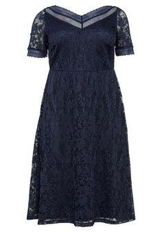 Abendkleid aus floraler Spitze – blau Short Sleeve Dresses, Dresses With Sleeves, Fashion, Lace, Gown Dress, Gowns, Blue, Moda