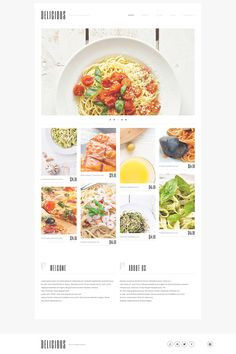 Check out this Italian Cuisine WordPress Theme ( and you could fall in love with it. Clean, professional and simple design. Menu Restaurant, Restaurant Themes, Delicious Restaurant, Restaurant Identity, Food Web Design, Design Design, Email Design, Site Design, Layout Design