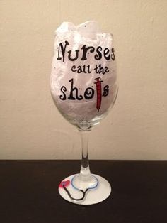 for brooke? Nursing hand painted wine glass on Etsy, $18.00