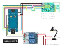 Arduino Nano - NRF24l01+ - Lamp Diagram