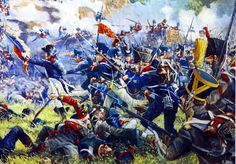 French assault on Hougoumont, Battle of Waterloo- by Mark Churms