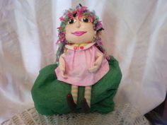Late  This is one of two dolls that I finished this last week. No pic of the other one yet.  In a few days. Neither one have names yet.   ,