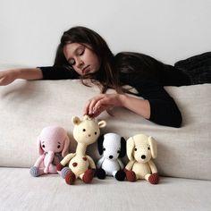 Mia and her little amigurumi friends