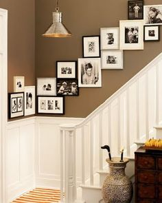 cozy eclectic: How to Decorate a Staircase Wall