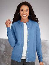 Cashmere-Soft Cardigan Sweater