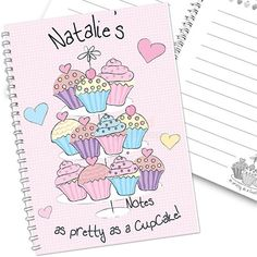 Personalised Cupcake Notebook  from Personalised Gifts Shop - ONLY £5.95