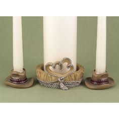 """Wedding Style - """"Country Flair"""" Candle Stand, $28.99 (http://www.weddingstyle.ca/country-flair-candle-stand/)"""