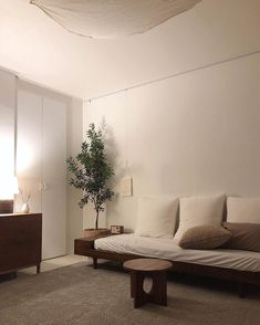 Home Living Room, Living Room Korean Style, House Rooms, House Interior, White Interior, Interior Display, Interior Design, Decor Home Living Room, Interior Inspo