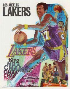 1972 LA Lakers poster