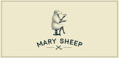 Mary Sheep || Logo for personal hairdresser from st.Peterburg. it was neсessary to show the home atmosphere of her work with tea, talks etc. || The font used in the type is called Haymaker (https://pinterest.com/pin/84724036710078442/)