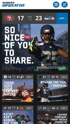 EA Sports Madden GIFERATOR: A Google Art, Copy & Code Project | Gif Generator Digital Marketing Campaign for NFL Fans | Award-winning Mobile Marketing | D&AD