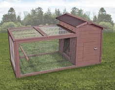 """This would work great as a """"nursery"""" for my bought pullets once they've outgrown the brooder. Found it at Wayfair - Hen Hut Chicken Coop"""