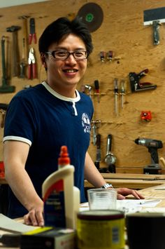 Changyu Chen in the Prototype Shop
