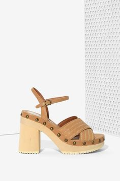 Jeffrey Campbell Camila Leather Platform Sandal - Shoes | Heels | Heels | Platforms | Jeffrey Campbell