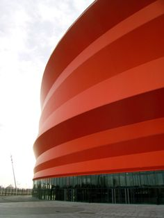 Zénith de Strasbourg, France by Italian architect Massimiliano Fuksas Space Architecture, Contemporary Architecture, Monaco, Metal Facade, Strasbourg, Modern Colors, Concert Hall, Exterior, Building