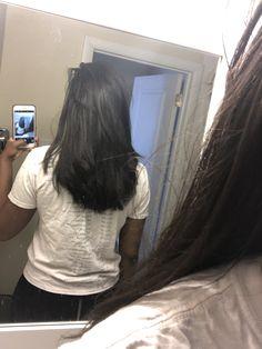 Natural Hair Tips, Natural Hair Styles, Hair Dos, My Hair, Straight Hairstyles, Cool Hairstyles, Relaxed Hair Growth, Long Relaxed Hair, Relaxed Hair Journey