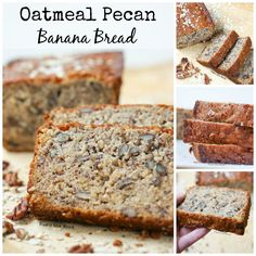 Oatmeal Pecan Banana Bread is a quick bread that is perfect for breakfast, snack or dessert. It keeps you full longer than traditional banana bread.