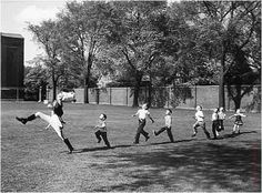 Alfred Eisenstadt had the most perfect timing. I've always loved this candid photo that he took of kids mimicking a drum major practicing for the show.