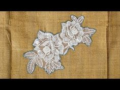 How to Sew on Lace Applique - YouTube