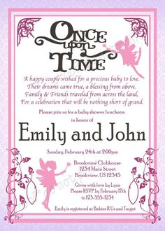 once upon a time baby shower clip art | Once Upon a Time' Baby Fairy Tale Shower ... | Baby Shower Ideas