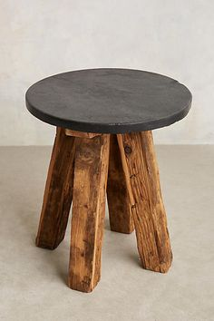 Slate Top Side Table, $298, a side table for in front of the floor lamp (next to the leather couch)