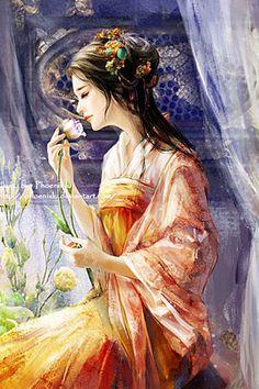 40 Elegant & Beautiful Girls Illustrations by Phoenix Lu | The Design Inspiration