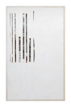 "Erik Lindman [USA] (b 1985) ~ ""Harlequin 2"", 2013. Found Surface (Melamine, Paint), Acrylic on Canvas (244 x 152 cm)"