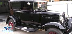 The 1930 Ford Model A Sedan was the first Ford to use the standard set of driver controls with conventional clutch and brake pedals, throttle and gearshift.