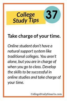 To be an awesome online student you have to take charge of your time.You aren't alone, but you are in charge of managing your time. | Tips for Online Courses, online students, online college tips, online course tips, online classes, study online, college online, online student study tips, online study tips, nontraditional stud