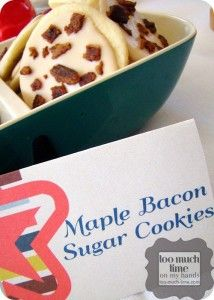 Maple Bacon Sugar Cookies from Too Much Time On My Hands 4 copy