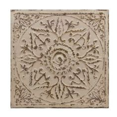 Product Details Distressed Gray Floral Medallion Tile