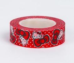 Hello Kitty Paper Tape: Red Bows
