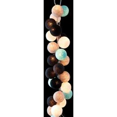 Cable & Cotton String Light 35 Balls - Sea Salt
