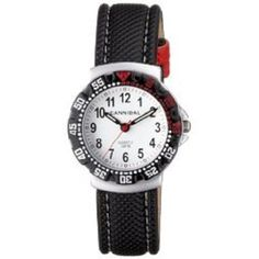 Cannibal Active White Dial & Leather Strap Children's Watch CJ091-01