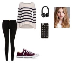 """""""Sem título #113"""" by selmylife-1d on Polyvore featuring moda, Velvet by Graham & Spencer, Current/Elliott, Converse, J.Crew, Beats by Dr. Dre e Chloé"""