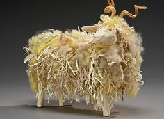 Just so clever and original – Goat Mâché sculpture by Nancy Winnsundawg.